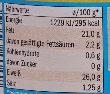 Thunfischfilets in Sonnenblumenöl - Nährwertangaben - de