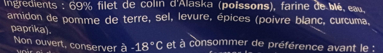 Alaska Seelachs Paniert - Ingredients