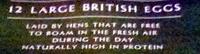 12 Large Free Range British Eggs - Ingredients