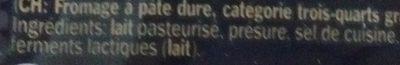 Provoletta doux en tranches - Ingredients
