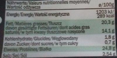 Provoletta doux en tranches - Nutrition facts