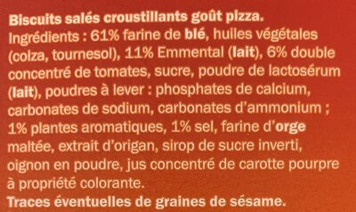 Mini Pizza Crackers - Ingredients - fr