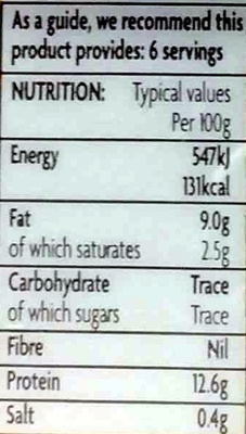 6 Eggs - Nutrition facts