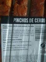 Pinchitos de cerdo - Ingredients - es