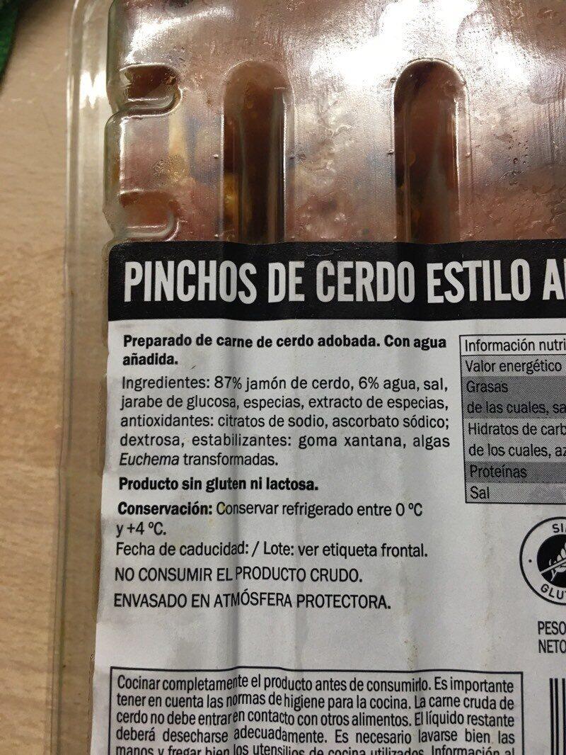 Pinchos estilo andaluz - Ingrediënten