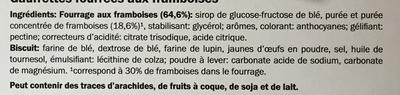 Gaufrettes aux framboises - Ingrédients - fr
