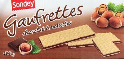 Gaufrettes au chocolat et aux noisettes - Produit - fr