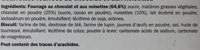 Gaufrettes au chocolat et aux noisettes - Ingrédients - fr