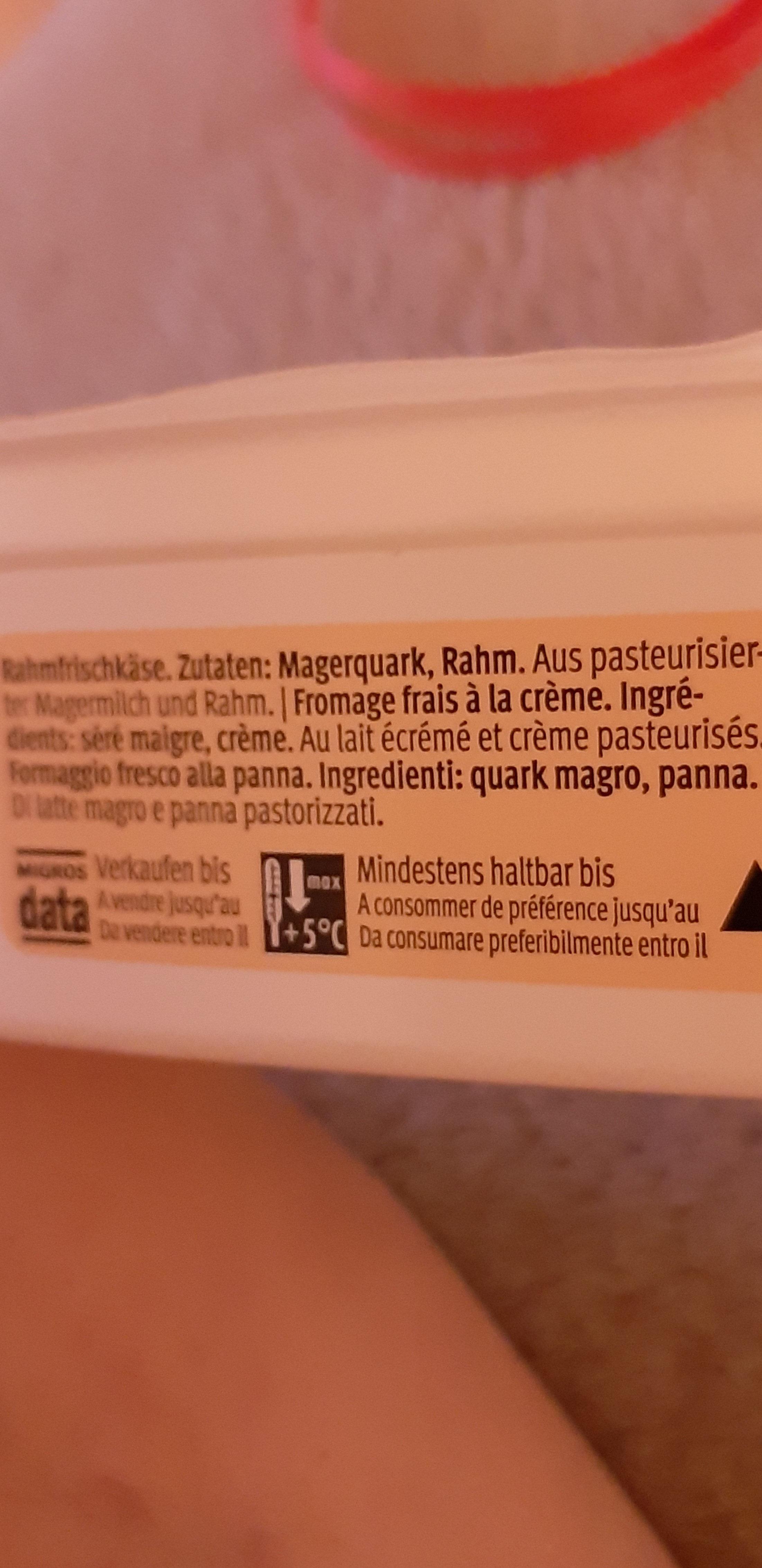 Rahmquark - Ingredients