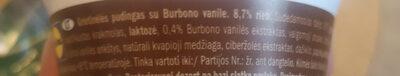 cream pudingo burbon vanilla - Ingredients - lt