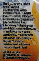 Napój gazowany o smaku grejpfrutowym. - Ingredients - pl