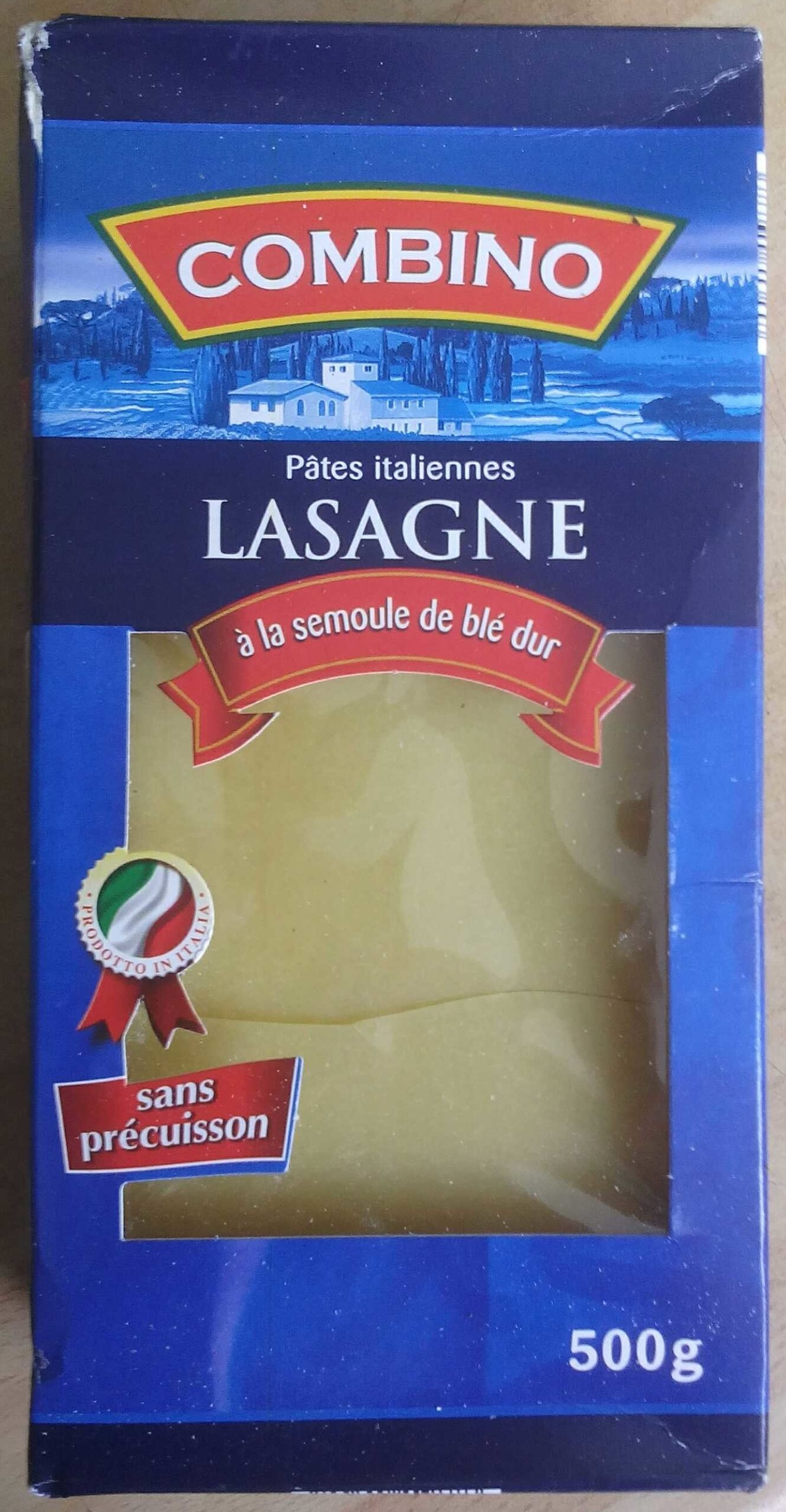 Lasagnes - Produkt