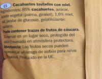 Cacahuete frito con miel - Ingrédients - fr