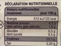 Véritable Jambon Persillé - Informations nutritionnelles