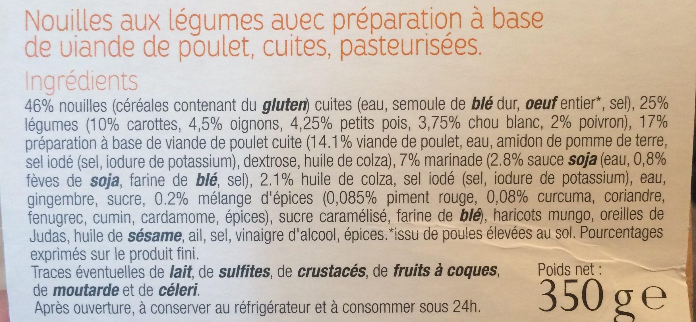 Bami Goreng - Ingredients - fr