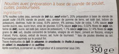 Chicken Noodles - Ingredients - fr