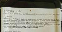 Nem poulet - Ingredients - fr