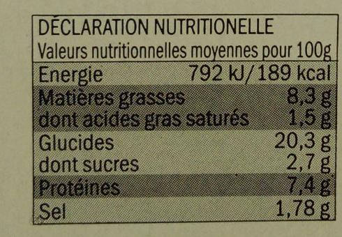 Nem poulet - Nutrition facts - fr
