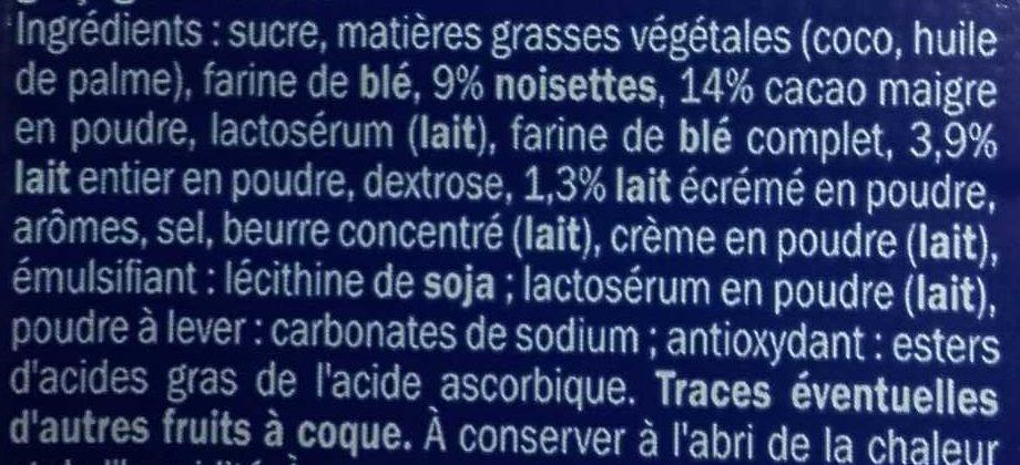 Carré Lait-Noisette - Ingredienti - fr