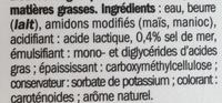 Beurre Tendre & Léger 40% MG doux - Ingrédients - fr