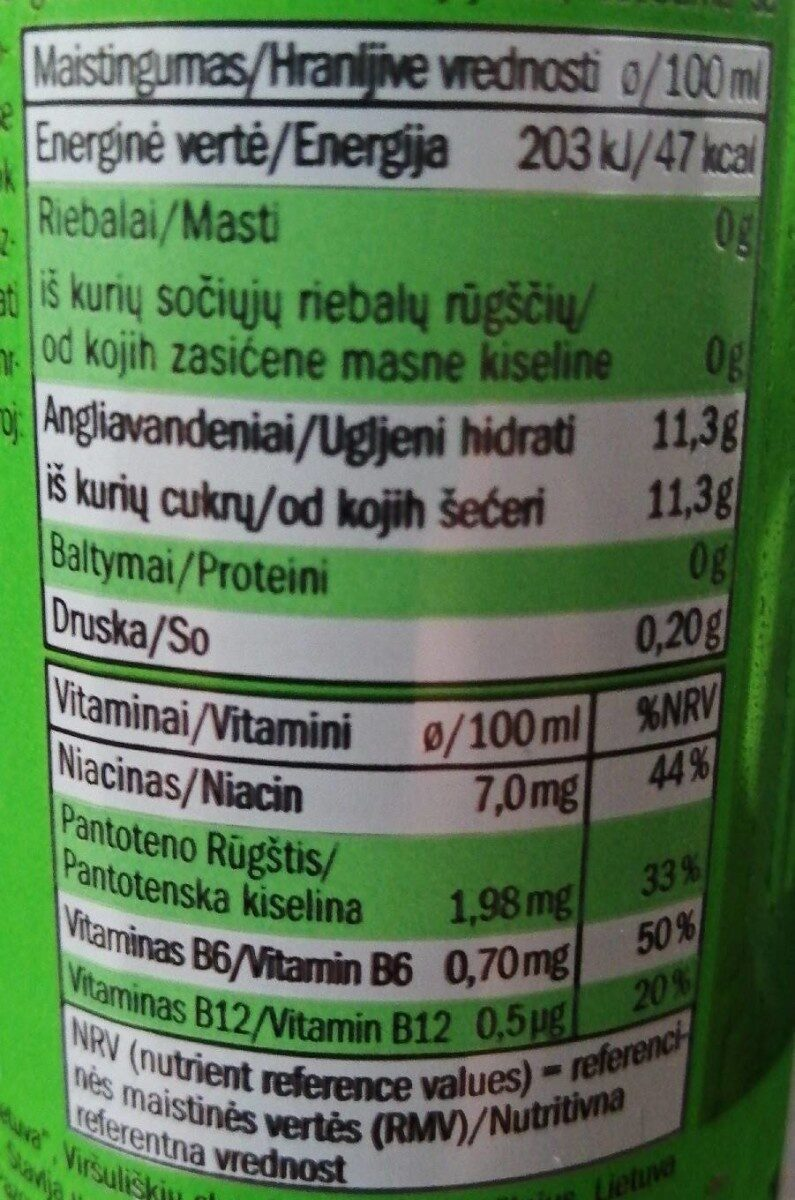Kong strong wild power mojito - Informations nutritionnelles - fr