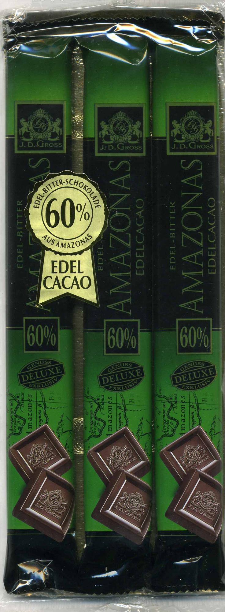 Edel-Bitter-Schokolade Amazonas 60% Kakao - Producto - es