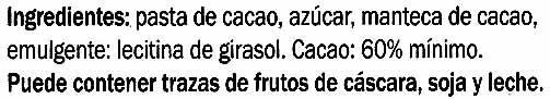 Edel-Bitter-Schokolade Amazonas 60% Kakao - Ingredientes - es