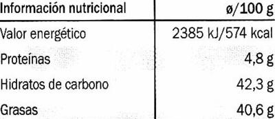 Edel-Bitter-Schokolade Amazonas 60% Kakao - Información nutricional - es