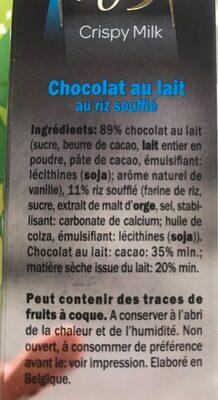 Perle d or crispy milk - Ingrediënten