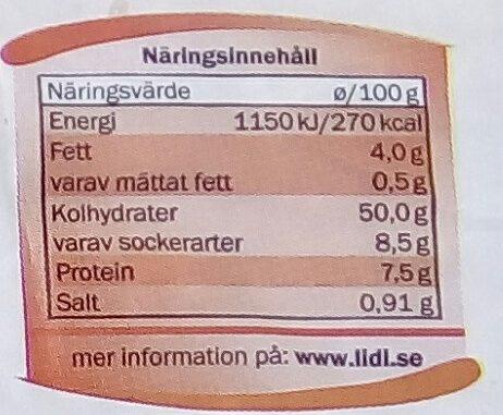 Kvarnvingen Frukostlimpa - Informations nutritionnelles - sv