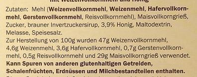 Honey Rings - Ingredients