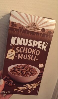 Crownfield Knusper Schoko Müsli - Prodotto - de