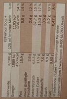 Crownfield Knusper Schoko Müsli - Informations nutritionnelles - de
