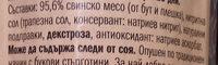 Деликатесен салам - Ingredients