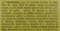 Galletas Minis - Ingredientes - es