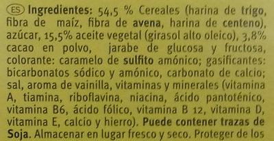 Galletas Minis - Ingredients - es