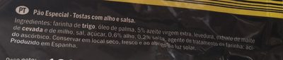 Panecillos Tostados Ajo y Perejil - Ingredientes - fr