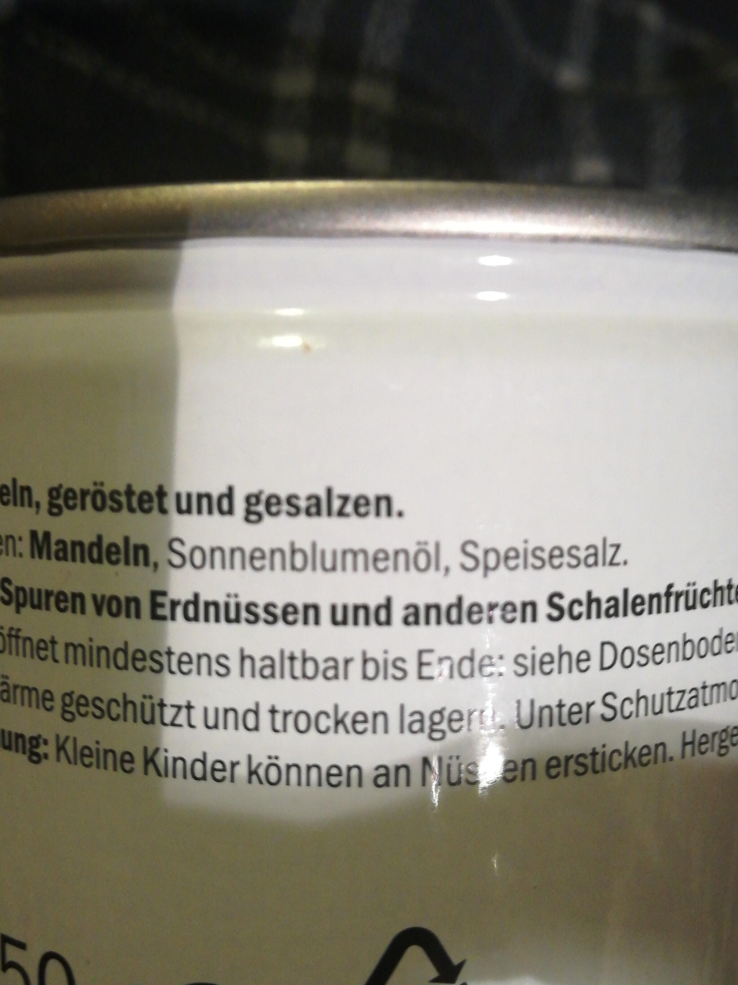 Geröstete Mandeln - Ingrédients - de