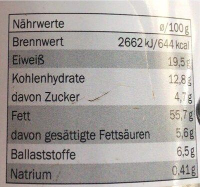 Geröstete Mandeln - Informations nutritionnelles - de