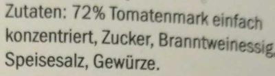 Tomato ketchup - Zutaten