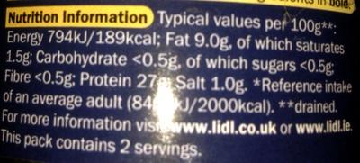 Tuna steak - Nutrition facts - en