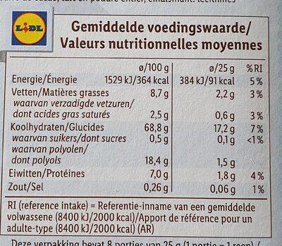 Barres de céréales Chocolat au lait - Voedingswaarden - fr