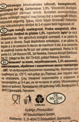 bio organic - Ingrediënten - fr