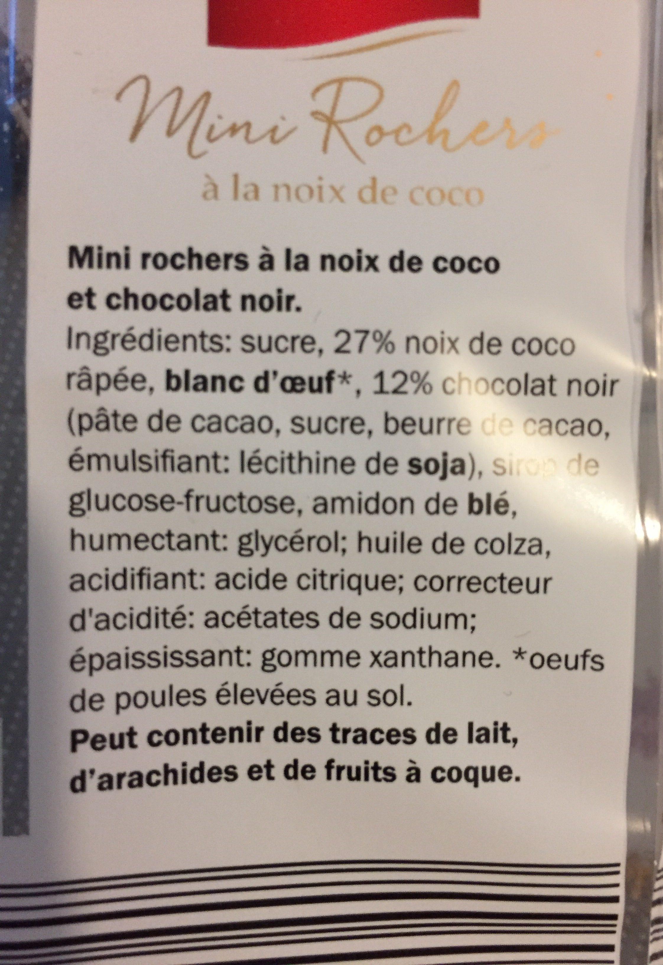Mini Rocher à la noix de coco - Ingrédients