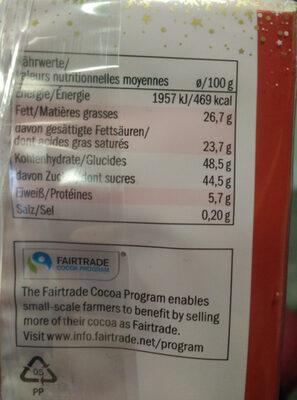 Mini Rocher à la noix de coco - Informations nutritionnelles