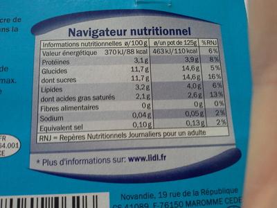 Yaourt nature sucré - Produit