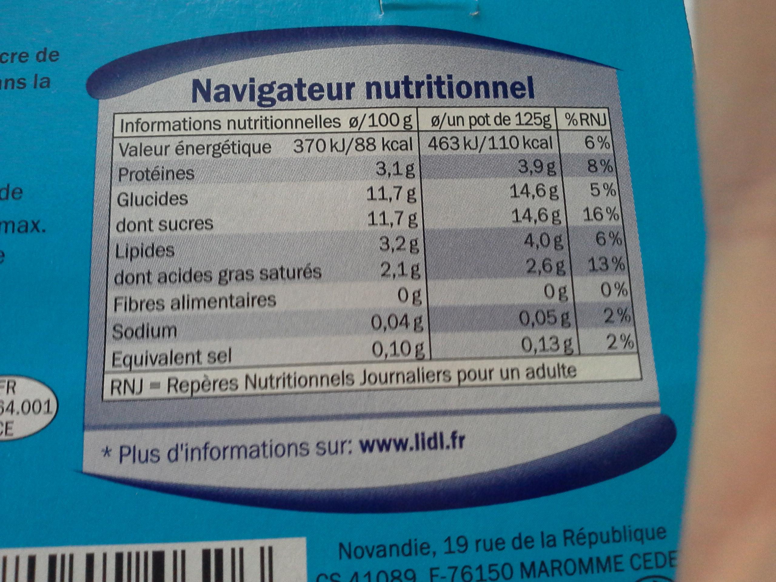 Yaourt nature sucré - Produit - fr