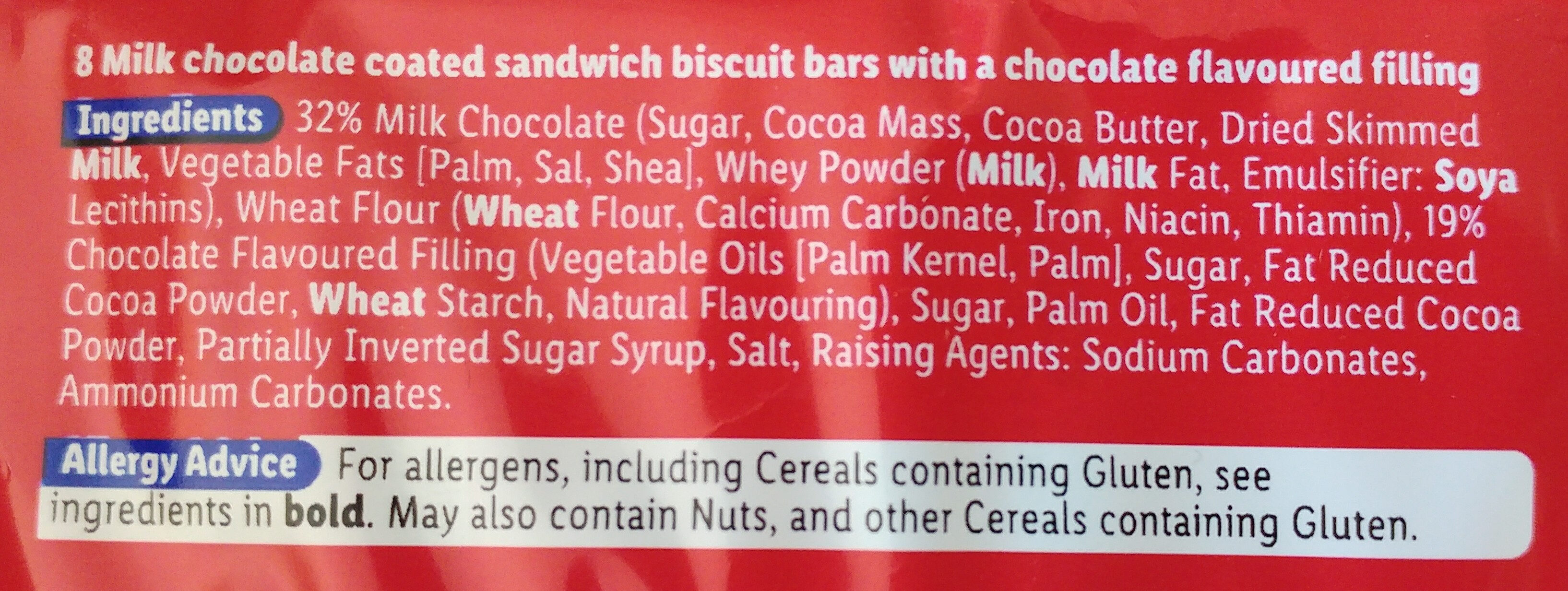 Milk Chocolate Arctic Bars - Ingredients - en