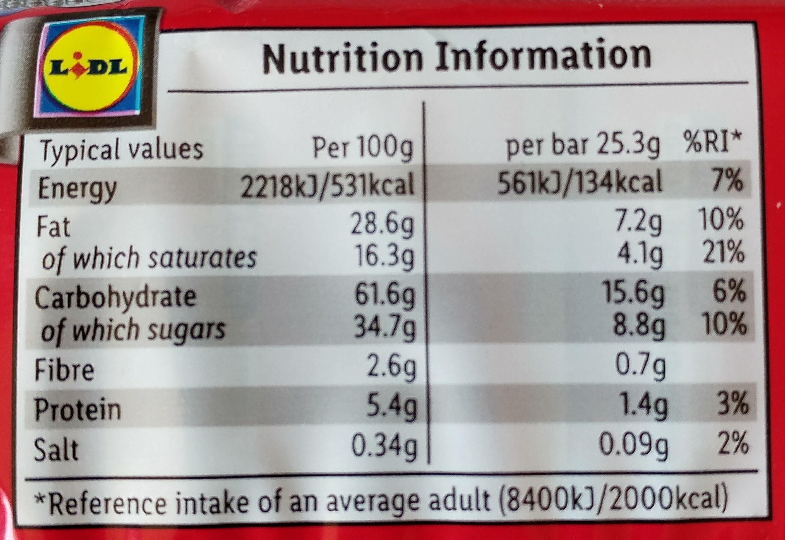 Milk Chocolate Arctic Bars - Nutrition facts - en