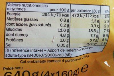 Légume vapeur - Ingrédients - fr